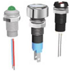 LED Φ8 mm με μεταλλικό περίβλημα Σύνδεση με ακροδέκτη 2,8x0,8