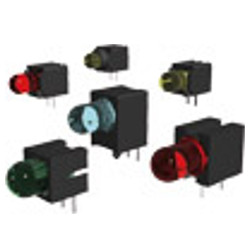 LED Indicator and Array Systems With 5-mm-LED, Angled